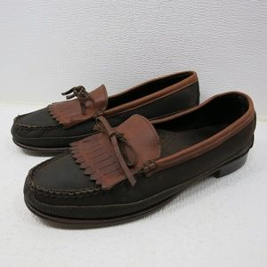 Dexter Two Tone Leather Dress Kiltie Loafers Shoes